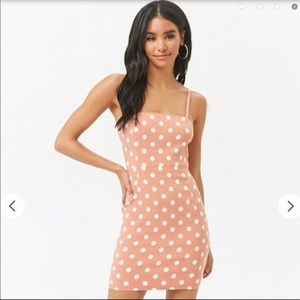 Dresses & Skirts - Polka Dot Pink and White Structured Mini Dress